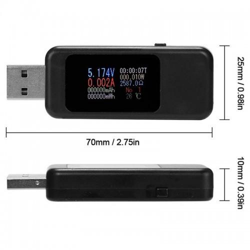 Miernik Tester USB Woltomierz Amperomierz 4-30V 5A Keweisi kws-MX18 COLOR