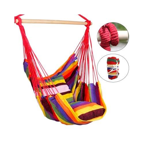 Hamak krzesło brazylijskie z poduszkami Kolorowe